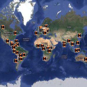 Weltkarte Kolping